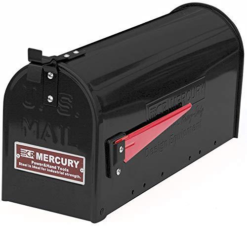 マーキュリー ポスト US EMBOSSED メールボックス 16.7×52.1×24.5cm マットブラック