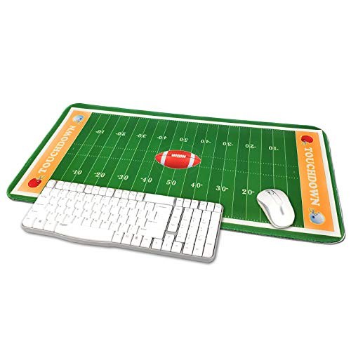 TriPro Football Field Stadium Design Large Gaming Mouse Pad XXL Extended Keyboard Mat Desk Pad Big Mousepad,Size 23.6'x11.8',Water-Resistant,Non-Slip Base,for Football Fans Gifts (Yellow)