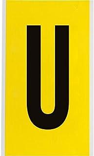 "Brady 3470-U, 34731 9"" x 5"" 3470 Series Repositionable Letter Label w/Legend: U, 25 Cards"