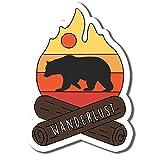 Mountain Bear Sticker Camping Wanderlust Stickers Waterbottle Sticker Tumblr Stickers Laptop Stickers Vinyl Stickers