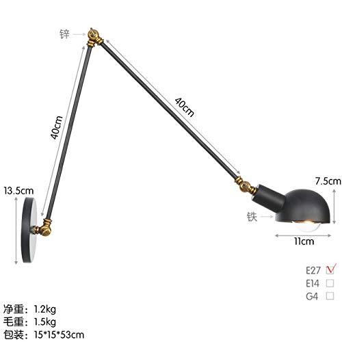 RAQ Style Loft Creative Minimalist wandlamp met lange arm en verstelbare greep rustieke lampen van metaal No Bulb Sku06