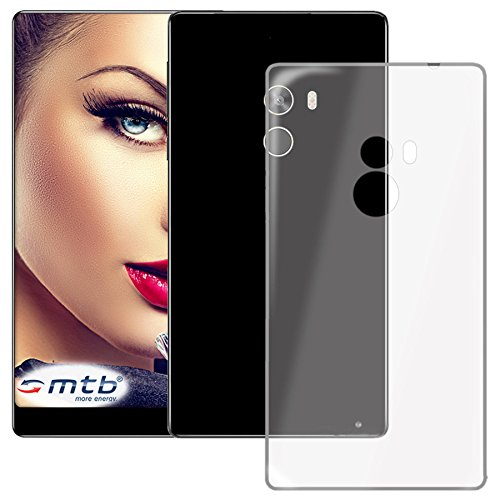 mtb more energy® Schutz-Hülle Clear und Slim für Xiaomi Mi Mix (6.4'') - transparent - flexibel - TPU Silikon Hülle Cover Tasche
