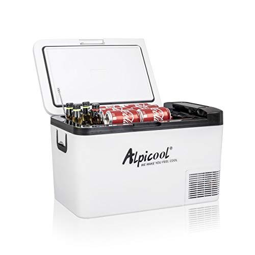 Alpicool K25 25 Litros Neveras de Viaje Portátil Nevera Congelador de Coche 12/24V CC Eléctrica Frigoríficos para Automóvil para Camping, Viajes, Picnic
