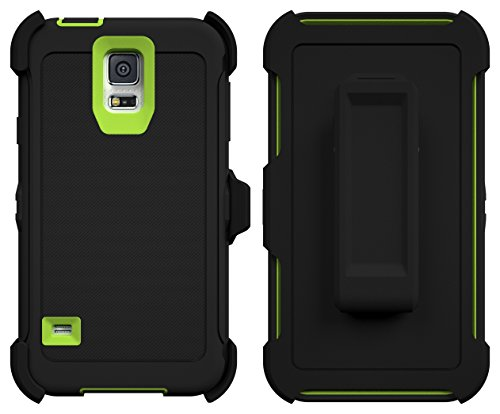 Galaxy S5 Case, Caseologist [Armor Series] [Shock Proof] [Black | Lime] for Samsung Galaxy S5 Case [ - http://coolthings.us
