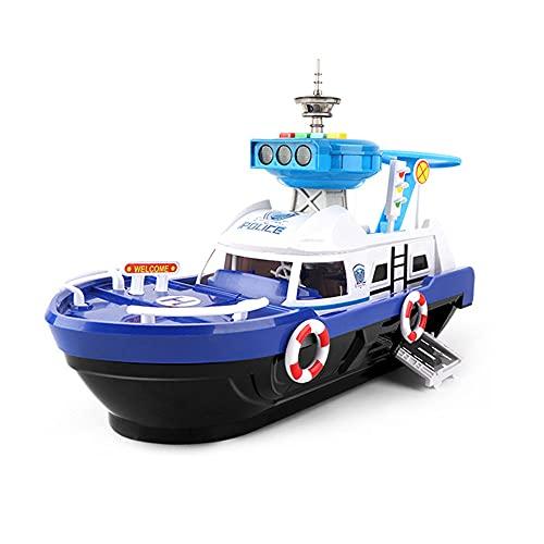 QHYZRV Barco grande de almacenamiento inercial con luz y música, barco inercial, barco de la serie...