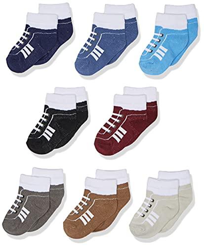 Calcetines Hudson Baby Unisex para bebé de algodón para recién nacido y calcetines Terry., Calcetines ricos de algodón para recién nacido y rizo, 0-6 meses