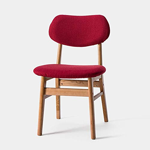 ZZP Modern Furniture Housewares Wooden Folding Chairs for Cafe,Bistro,Dining,Restaurant,A,rojo