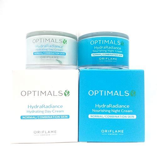 ORIFLAME Optimals Hydra Radiance Crema de Día + Crema de Noche Para Piel Normal/Mixta