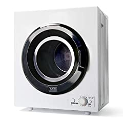 COMPACT DRYER - Perfectly sized for small spaces, our 120V clothes dryer is ideal for apartments, campers, and dorms. Includes exhaust connector. Get great performance without sacrificing too much valuable floor space. CONVENIENT & SAFE - Our front l...