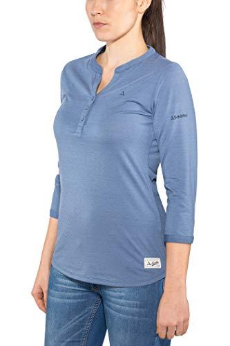 Schöffel Damen Longsleeve Johannesburg L Shirt, Blue Horizon, 42