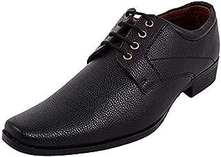 Alpha Men's Black Synthetic Derby Formal Shoes F02