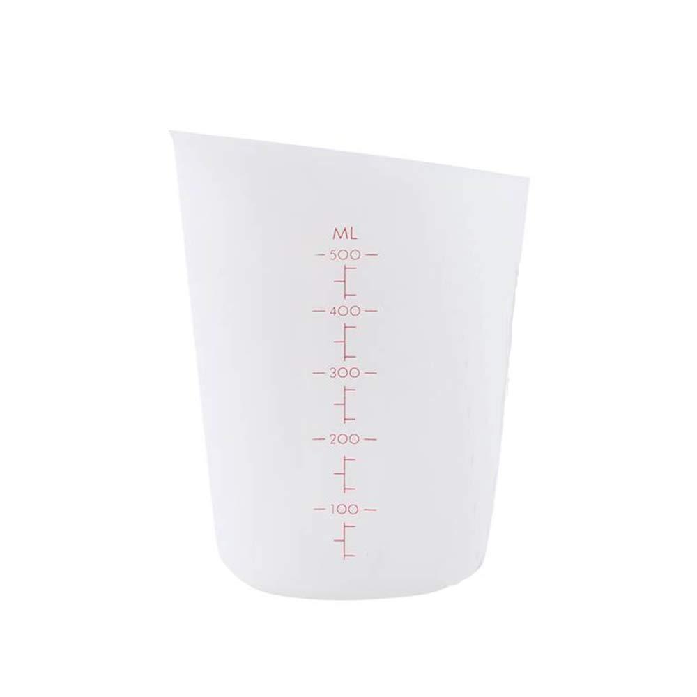 Transparente 500 ml con Escala de Medici/ón Limeo Jarra Medidora Pl/ástico Taza de Medici/ón Transparente Taza de Medir Taza de Medir de Plastico Resistente a Los /ácidos de Cocina y Laboratorio