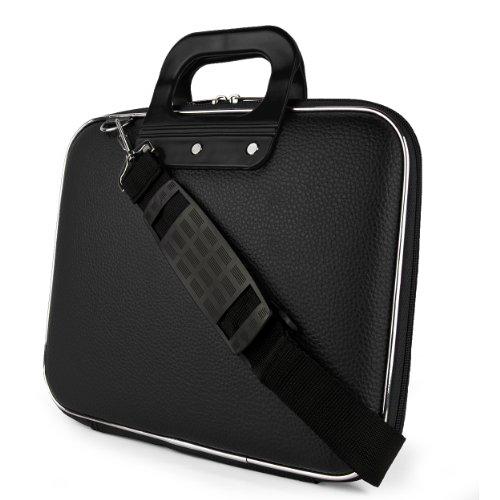 Cady Schultertasche für Tablets, iPad, Galaxy, Yoga, Transformer Pad, Omni, MeMO Pad, ThinkPad, IdeaTab & andere Schwarz schwarz 10 in.