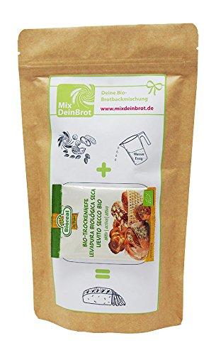 Bio-Brotbackmischung Dinkelbrot, Dinkelbrot selbst backen mit der Dinkelbrot Backmischung von MixDeinBrot, ergibt ein Dinkelbrot mit Trockenhefe