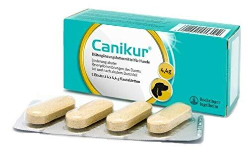 Canikur Complément diététique pour la régulation du fonctionnement intestinal des chiens - 1 boite de 12 x 4.4g comprimés