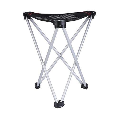 Yi-xir diseño Clasico Al Aire Libre Ultraligero aleación de aleación triángulo Plegable Taburete portátil Canto Silla de Pesca de boceto (Negro) Comodo