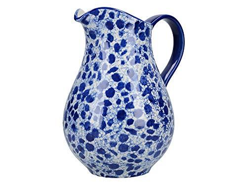 London Pottery C001004 Pichet à lait, Céramique, bleu/blanc, 1.1 Litre