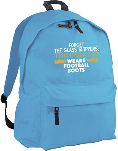 HippoWarehouse Forget The Glass Slippers, This Princess Wears Football Boots Backpack ruck Sack Dimensions: 31 x 42 x 21 cm Capacity: 18 litres