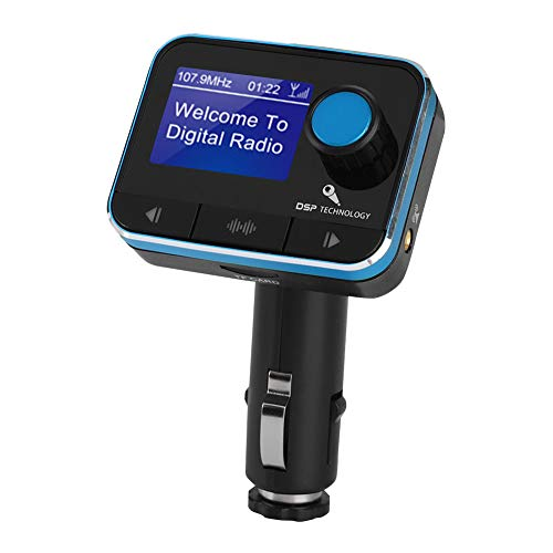 ASHATA Auto DAB+ Radio Adapter, digitale radio DAB/DAB + ontvanger FM-zender met handsfree inrichting, Bluetooth MP3 Muziek Dab+ Autoradio-ontvanger, ondersteuning U Disc/TF-kaart