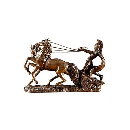 HENG Home Decoratie, Creatieve Oude Romeinse Chariot Sculptuur en decoratie, Geschikt voor Home Woonkamer Kast TV Kast Wijnkast Crafts Geschenken voor gebruik in Home Office, Decor, Vloervazen, Sp