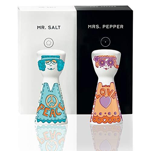 RITZENHOFF Mr. Salt & Mrs. Pepper Salz- und Pfefferstreuer von Selli Coradazzi, aus Porzellan, mit trendigen Motiven