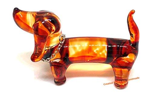Handmade Dachshund Dog Glass Figurine