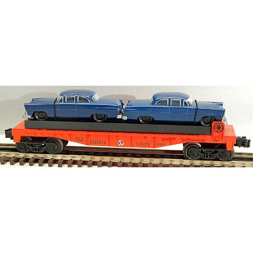 LIONEL TRAINS Flatcar Lines with Automobiles