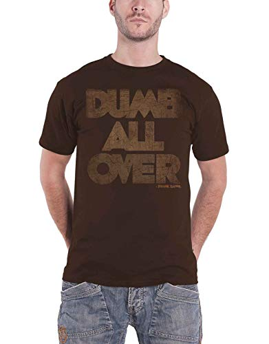 Frank Zappa T Shirt Dumb All Over Distressed Logo Nue offiziell Herren Braun