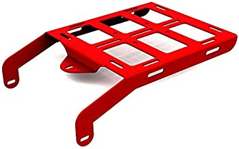 Cargo Rack Luggage Carrier Utility Rear Tail Holder Red Powdercoat fits: 93-16 Honda XR650L - Immix Racing - 100-001-red
