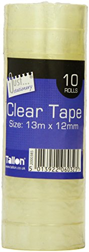 Just Stationery Mini Clear Tape (Roll of 10)