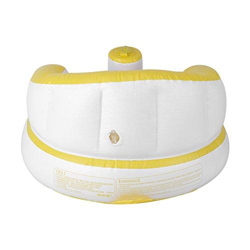 Sofá inflable para bebé, hermoso para no dañar los huesos Sofá de baño inflado rápido y fácil de operar, saludable y cómodo para el baño en casa(yellow)