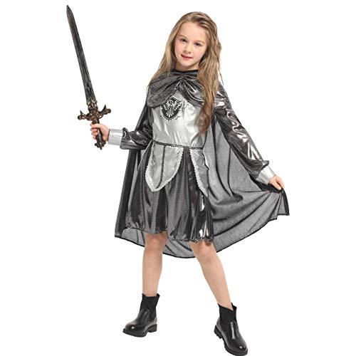 LOLANTA Disfraz de Guerrero Medieval para niños Traje de Princesa de Caballero Disfraz de Halloween (8-9 años)