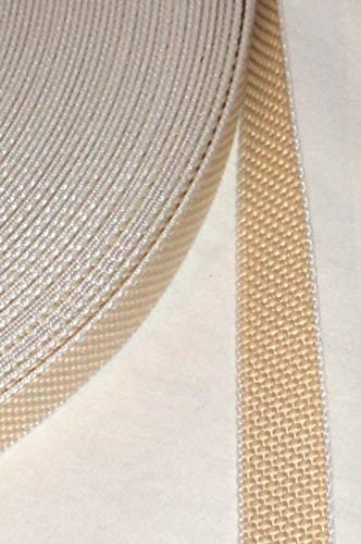 Cinghia avvolgibile per tapparelle, 50 m, resistente, beige, larghezza 23 mm, elevata resistenza allo strappo 450 kg, resistenza ai raggi UV, resistenza allo sporco, ottima resistenza all'abrasione, paraspigoli in perlon