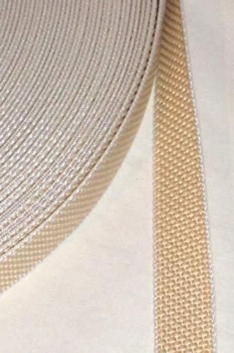 50 m Rolle stabil Rolladengurt - beige - Breite 23 mm - extra stark - hohe Reißfestigkeit - UV Beständigkeit - Schmutzunempfindlichkeit - beste Scheuerfestigkeit - Perlonkantenschutz