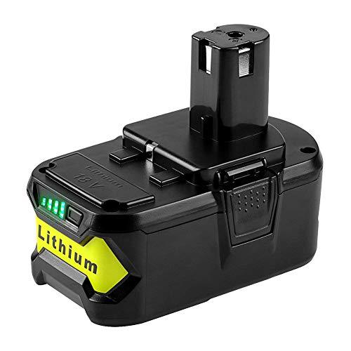 Metermall Home Batterijvervanging voor RYOBI 18V / P103 / P108 / lithiumbatterij Elektrisch gereedschap Batterijaccessoires