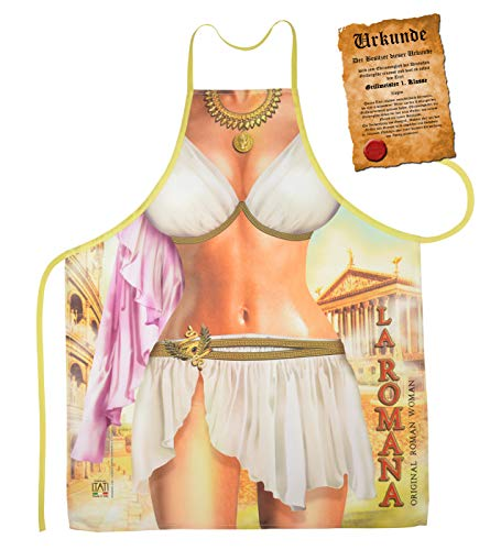 Mega Sexy keukenschort kookschort met gratis certificaat - Sexy Romeinse - grappig grappig grappig grappig cadeau-idee geschenk carnaval