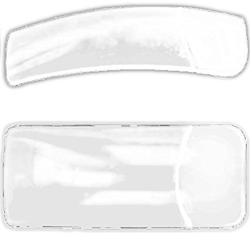 500 surface adhésive transparente Clear Tips : Square Forme de, Normale, 10 tailles jamais Lot de 50.
