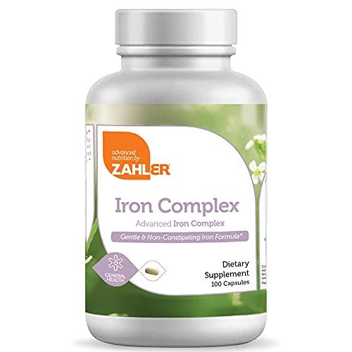Zahler Iron Complex Supplement - Complete Blood Building Iron Supplement...