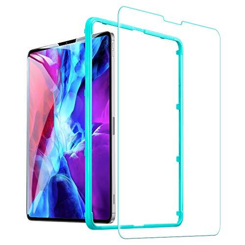 ESR iPad Pro 12.9 フィルム 2018年と2020年版モデル通用 ガラスフィルム 液晶保護 硬度9H HDクリア強化ガラス液晶保護フィルム 強度2倍 耐スクラッチ iPad Pro 12.9インチ
