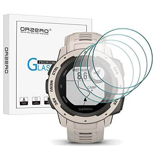 NEWZEROL [4 stück] kompatibel für Garmin Instinct Panzerglas Schutzfolie,Hochauflösender gehärtetes Glas-Bildschirmschutz Anti-Kratzer blasenfrei Schutzfolie- transparent