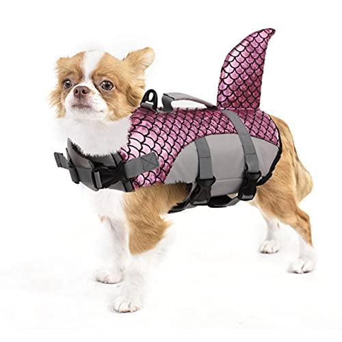 PUMYPOREITY Chaleco Salvavidas para Perros Mascotas Chaqueta Chaleco de Seguridad Perro Perrito Ropa de Baño para Perros pequeños, medianos, Grandes(Azul, XS)