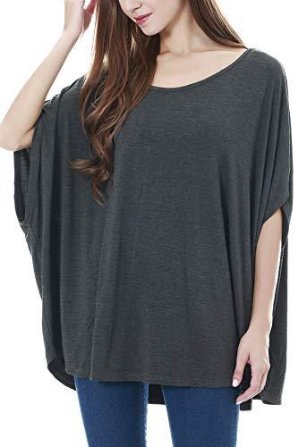 Smallshow Damen Stillschal Umstandsmode Schwangerschaft Kleidung Stilltuch Deep Grey