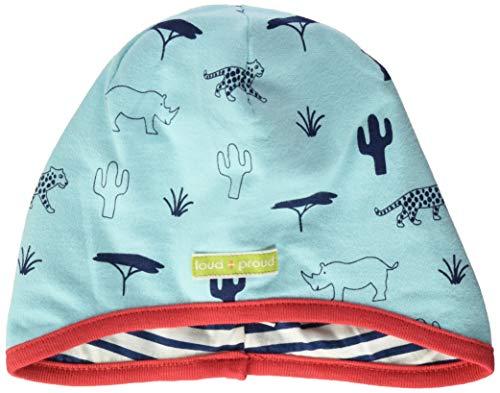 loud + proud Unisex Baby Wendemütze mit Druck, aus Bio Baumwolle, GOTS zertiziziert, Blau (Cloud Cl), 47/49 (Herstellergröße: 98/104)