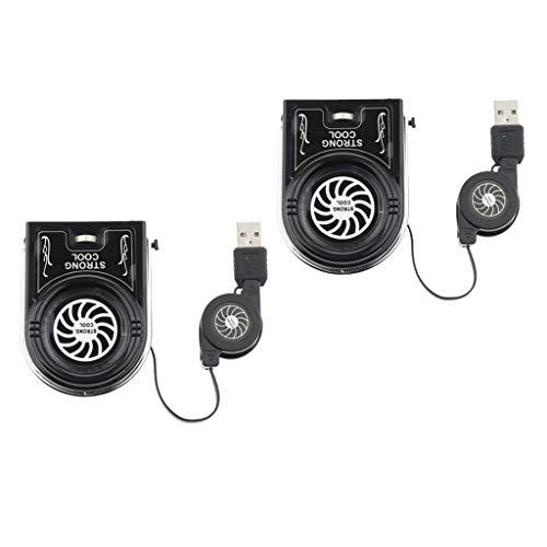 KESOTO Set of 2 Portable Laptop Fans, USB Powered LED Vacuum Cleaner