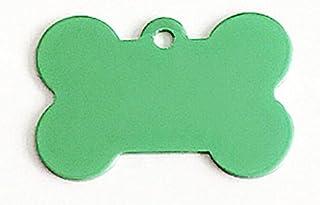 Polykor Useful Bone-Shaped Dog Tag Leash Pendant Tag Collar Accessories(Green