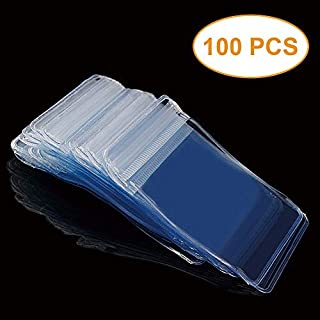 100 Pack PVC Clear Jewelry Anti Oxidation Zipper Bag Resealable Prevention Poly Plastic Bags for Packaging Jewellery Rings Earrings Sampling Cellophane Wrap (1.96x2.75 inch),9.8 mil