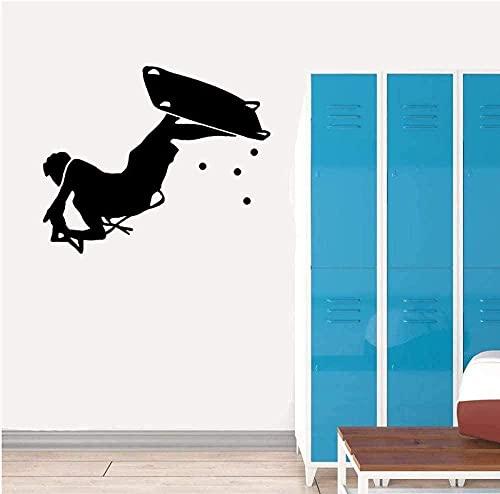 Etiqueta engomada del arte de la pared Etiqueta de la pared del vinilo Papel pintado Tabla de surf Etiqueta de la cocina y del gimnasio Sala de estar Dormitorio 51X42Cm