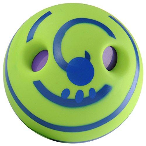 SmileyEU Lovely Hund Spielzeug Wag Squeaker Ball Hund Spiel Ball Spielzeug mit lustigen Sound