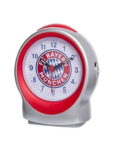 FC Bayern München Wecker Emblem/Alarm mit Snooze Taste/Beleuchtung/Schlummer-Funktion