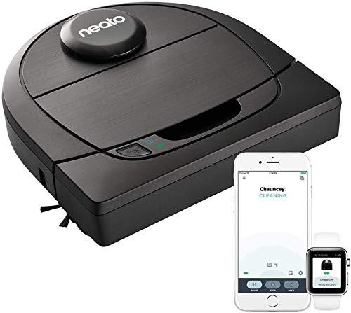 Neato Robotics D602 Connected - Compatible avec Alexa - Robot aspirateur avec station de charge, Wi-Fi & App